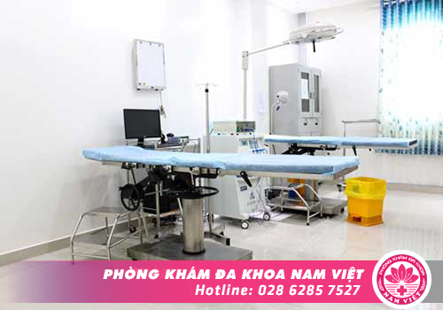 Hệ thống máy móc hiện đại, phòng điều trị sạch sẽ, vô khuẩn tại Đa Khoa Nam Việt