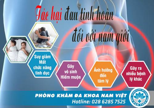 Tác hại đau tinh hoàn đối với nam giới