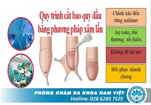 Phương pháp xâm lấn thường được áp dụng cho chứng dài-hẹp bao quy đầu ở nam giới